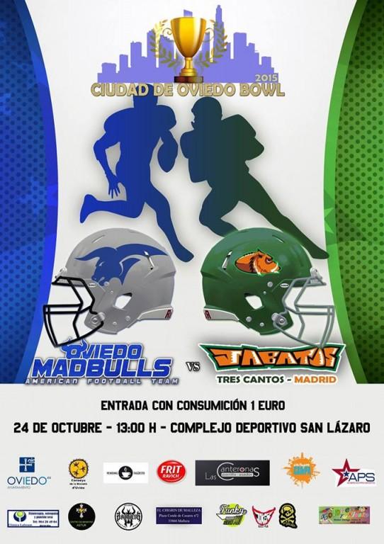 I Ciudad de Oviedo Bowl (cartel promocional de Oviedo Madbulls)