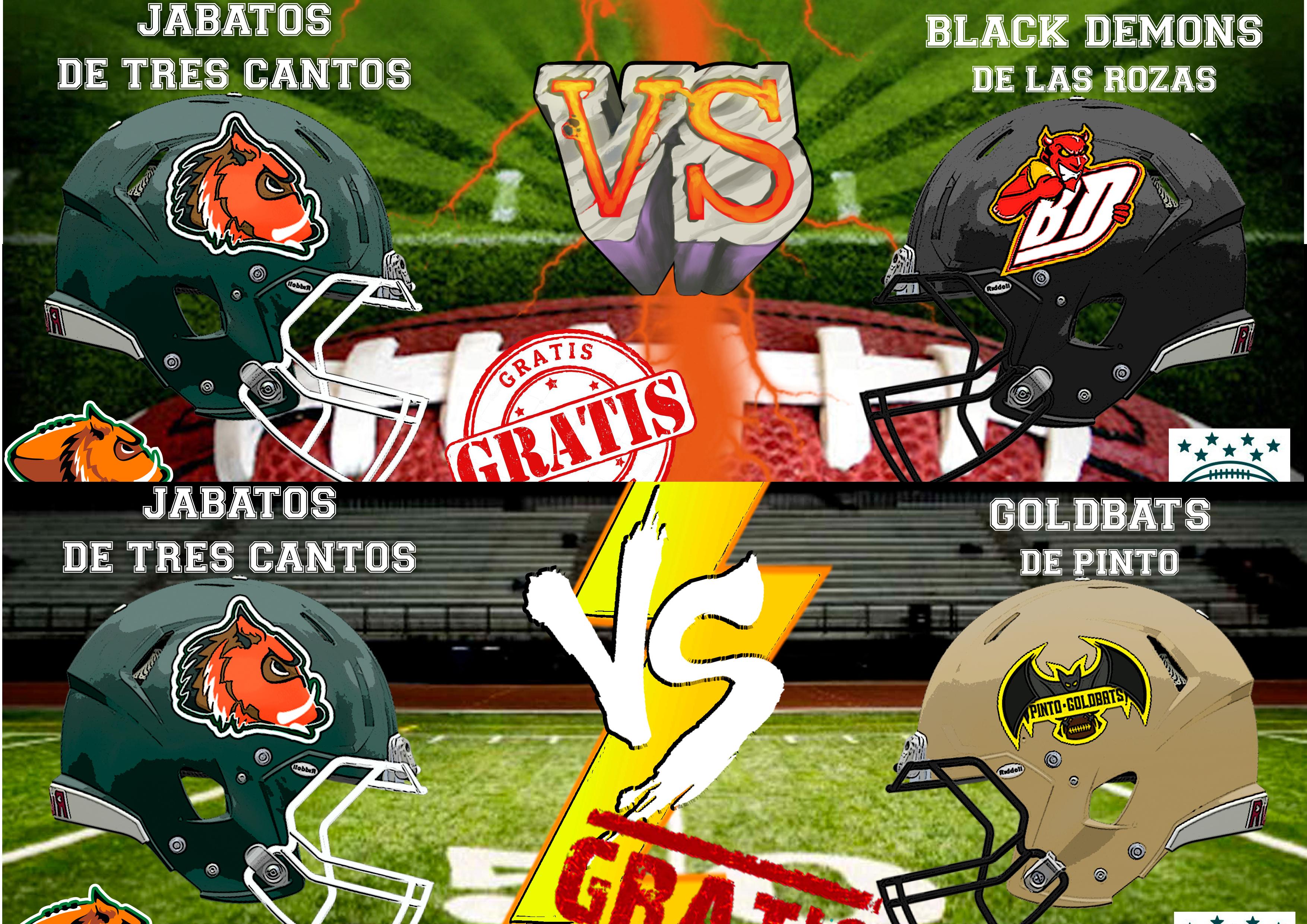 Fin de semana de doble ración de Fútbol Americano en Tres Cantos - JABATOS  CLUB DE FOOTBALL AMERICANO bab482f95f9
