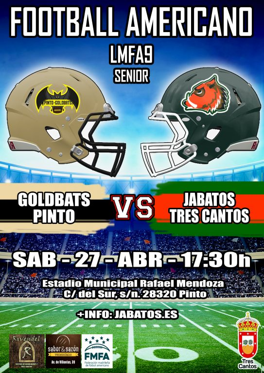 Cartel goldbats 27 abril SENIOR MASCULINO